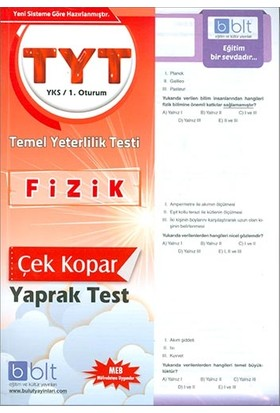 Bulut Eğitim TYT Fizik Çek Kopar Yaprak Test