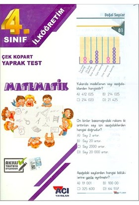 Açı 4. Sınıf Matematik Çek Kopart Yaprak Test