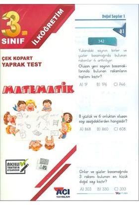 Açı 3. Sınıf Matematik Çek Kopart Yaprak Test