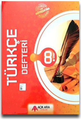 Açık Ara 8. Sınıf Türkçe Defteri