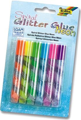 Folia Glitter-Glue Parlak Yapiştirici Set Normal