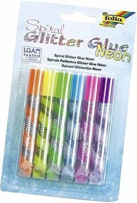 Folia Glitter-Glue Parlak Yapiştirici Set Neon