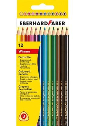 Eberhard-Faber 12li Winner üçgen kuruboya kalemi, 3mm mine