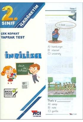Açı 2. Sınıf İngilizce Çek Kopart Yaprak Test