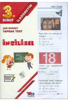 Açı 3. Sınıf İngilizce Çek Kopart Yaprak Test