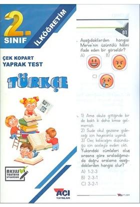 Açı 2. Sınıf Türkçe Çek Kopart Yaprak Test