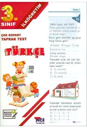 Açı 3. Sınıf Türkçe Çek Kopart Yaprak Test