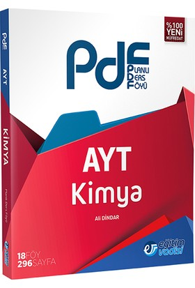 Eğitim Vadisi Yayınları AYT Kimya Planlı Ders Föyü (PDF)