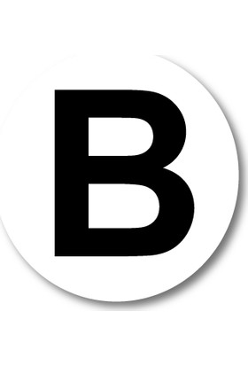 Cici B Harfi Sticker Etiket 5 x 5 cm