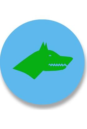 Cici Göktürk Bayrağı Sticker Etiket 3 x 3 cm 20li
