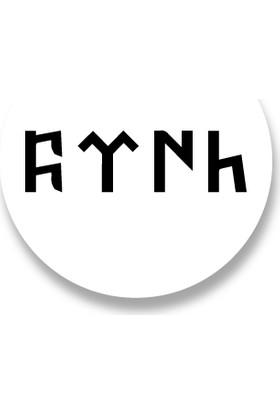 Cici Göktürkçe Türk Yazısı Sticker Etiket 3 x 3 cm 20li