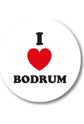 Cici I Love Bodrum Sticker Etiket 3 x 3 cm 20li