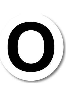 Cici O Harfi Sticker Etiket 5 x 5 cm