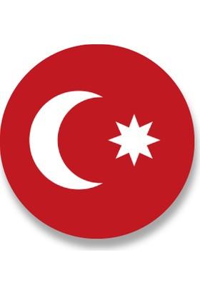 Cici Osmanlı Bayrağı 1844 Öncesi Sticker Etiket 3 x 3 cm 20li