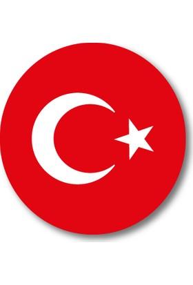Cici Türk Bayrağı Sticker Etiket 3 x 3 cm 20li