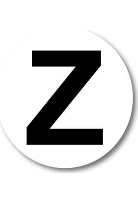 Cici Z Harfi Sticker Etiket 5 x 5 cm