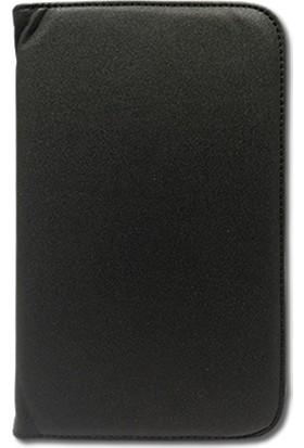 Smart Samsung Galaxy Tab T310 Deri Standlı Tablet Kılıfı MD142