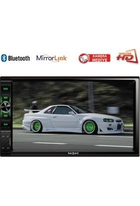 "Harward HR-702-7""Hd Ekran-Usb-Radyo-Sd-Bluetooth-Mirrorlink-Mp3-Mp4-Mp5-Mkv-Flv-Kameralı"