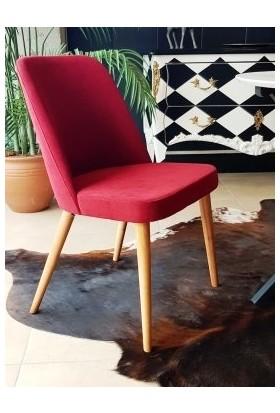 Lamoneta Viole Ağaç Ayaklı Döşemeli Sandalye