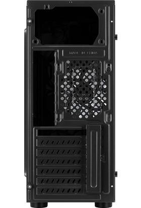 Aerocool Tomahawk-A 400W Akrilik Panel Led Fanlı Midi Tower Siyah ATX Kasa (AE-TMHWK-A400)