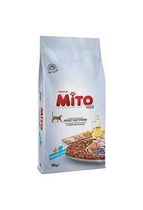 Mito Mix Adult Cat Tavuklu Ve Balıklı Renkli Taneli Yetişkin Kedi Maması 15 Kg