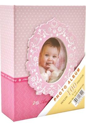 "Acr 10 x 15cm 100'lük Bebek Fotoğraf Albümü ""Pembe"""