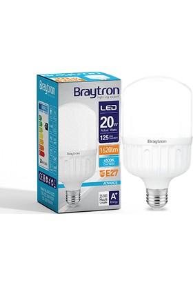Braytron Led Ampül Normal Ampul Tipi E27 20W 6500K Beyaz Işık Braytron