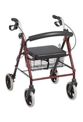 Poyli̇n Tekerlekli Yürüteç Rolatör Hasta Yaşlı Yürüteci 130 kg Taşır