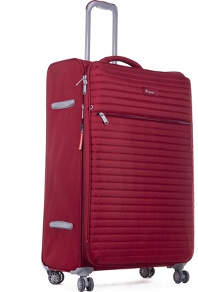 1f71c9df10916 ... It Luggage Büyük Ve Orta 2'Li Valiz Seti Kumaş Bordo ...