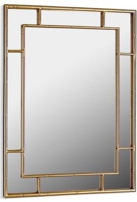 Cemile Bordürlü Gold Dikdörtgen Ayna