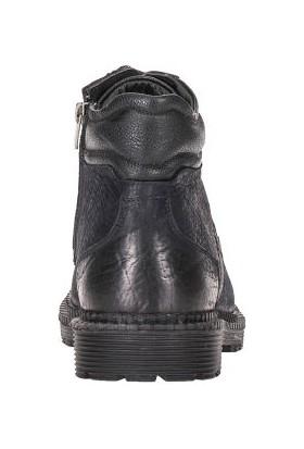 Cipo&Baxx CS116 Bağcıklı Fermuarlı Siyah Boğazlı Erkek Nubuk Bot