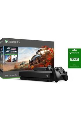 Microsoft Xbox One X 1 TB Oyun Konsolu Forza Horizon 4+ Forza Horizon 7 CYV-00057 +3 Aylık Live Card