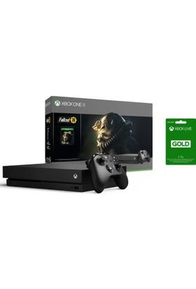 Microsoft Xbox One X 1 TB Oyun Konsolu Fallout 76 CYV-00155+3 Aylık Live Card