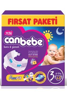 Canbebe Fırsat Paketi (3 Numara) 4-9 kg Paket İçi 68 Adet