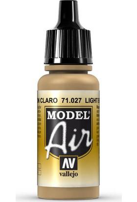 Vallejo 71027 Model Air Light Brown Maket Boyası
