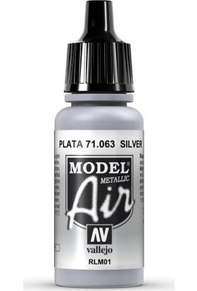 Vallejo 71063 Model Air Silver Maket Boyası