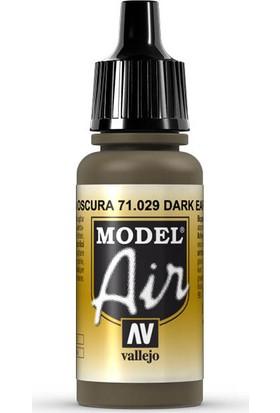 Vallejo 71029 Model Air Dark Earth Maket Boyası