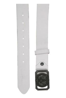 Cipo&Baxx CG145 Metal Tokalı Beyaz Deri Spor Erkek Kemer