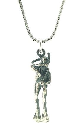 Magümüş Dalgıç Gümüş Kolye 50 Cm Gümüş Zincir
