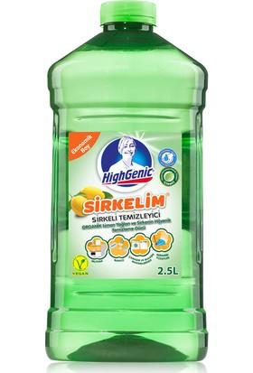 Highgenic Sirkelim Sirkeli Temizleyici Organik Limon Esanslı Ekonomik Boy 2500 ml