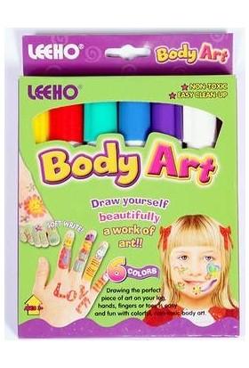 Leeho Body Art Yüz Boyası 10 Renk