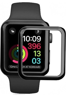 Dafoni Apple Watch 4 Curve Tempered Glass Premium Full Cam Ekran Koruyucu (44 mm)