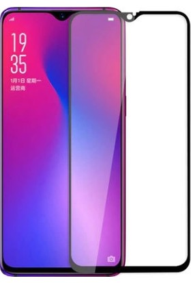 Dafoni Oppo AX7 Curve Tempered Glass Premium Full Siyah Cam Ekran Koruyucu