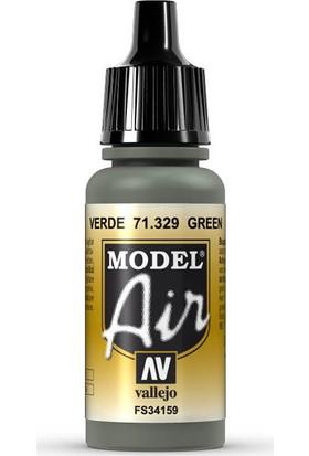 Vallejo 71329 Model Air Green Maket Boyası