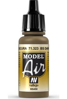 Vallejo 71323 Model Air BS Dark Earth Maket Boyası