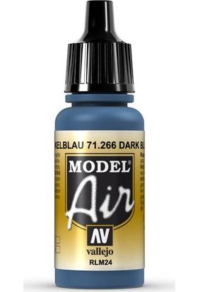 Vallejo 71266 Model Air Dark Blue RLM24 Maket Boyası