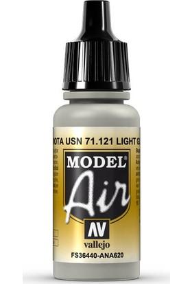 Vallejo 71121 Model Air Light Gull Gray Maket Boyası
