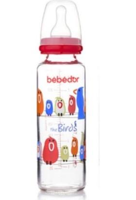 Bebedor 31302 Desenli 250 ml Cam Biberon Kırmızı