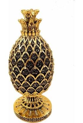 Derkan Ananas Esma Hüsna Swaroski Taşlı Biblo Altın Renk