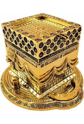 Derkan Kabe Kaideli Swaroski Taşlı Biblo Altın Renk